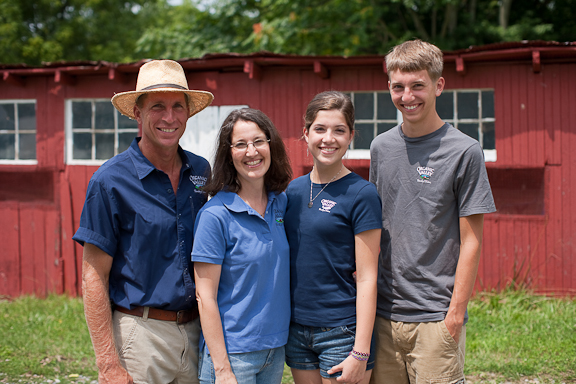 The Holter Family, photographed on their farm, August 5, 2009.