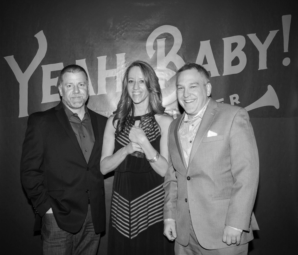 (L to R) Myself, Rachel and Brian with the (very tightly clutched,) RAF Best of Show Addy trophy. Rachel's not letting go of this trophy for anything! Photograph courtesy of Rochester Advertising Federation.