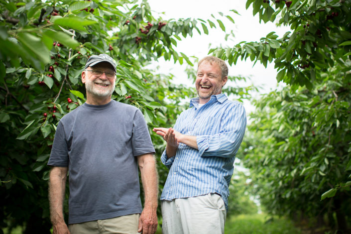 photography, location photography, portrait photography, location portrait, environmental portrait, editorial photography, editorial portrait, business owner, president, ceo, father and son, organic, orchard, fruit, juice, red jacket orchard