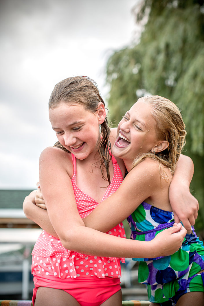 location photography, lifestyle photography, editorial photography, child photography, children playing, children laughing, cousins, summer photography, camp, lake, cottage, dock, swimming, swimming photography, kid photography, laughing, summer, vacation
